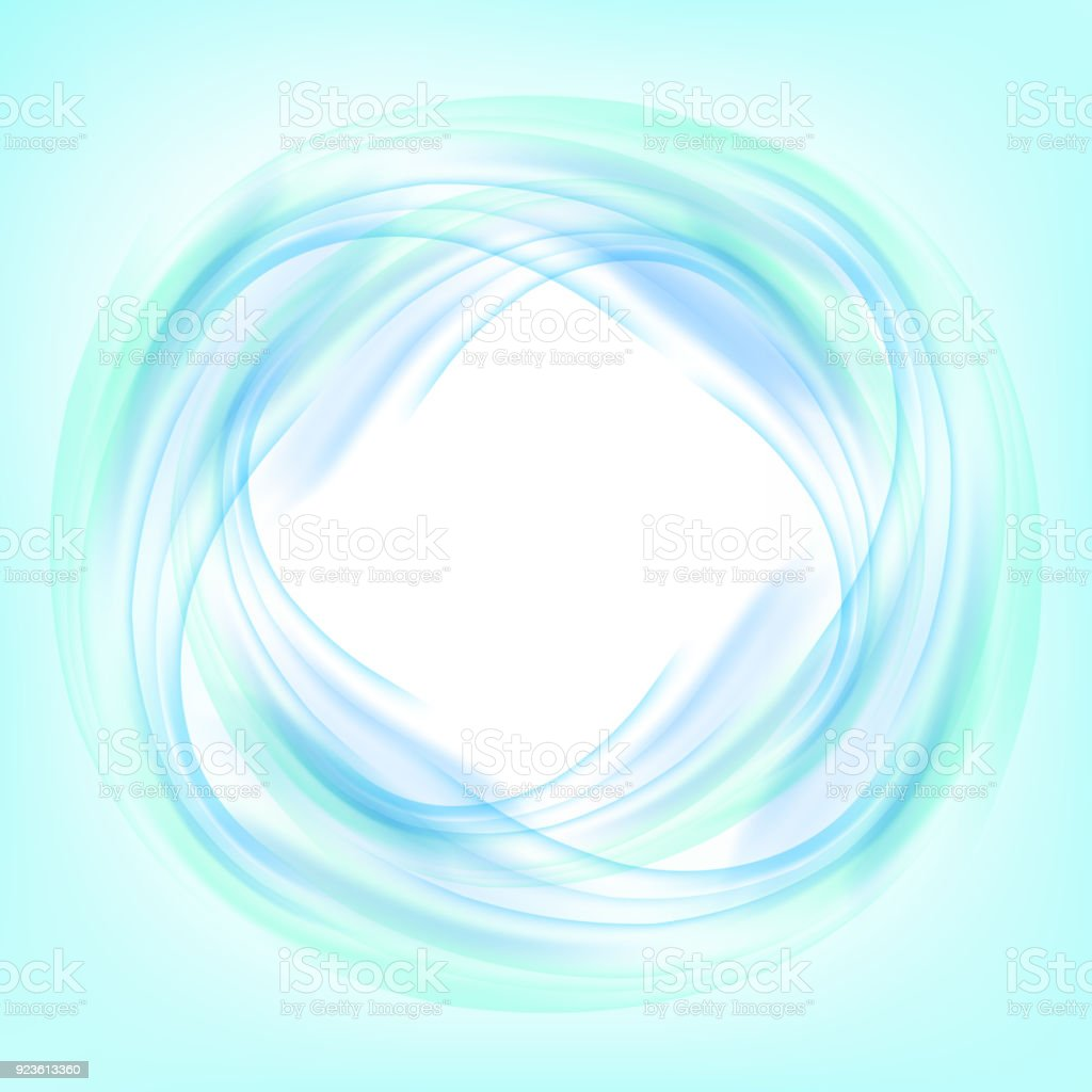 abstract blue swirl circle on white background vector illustration for you modern design round