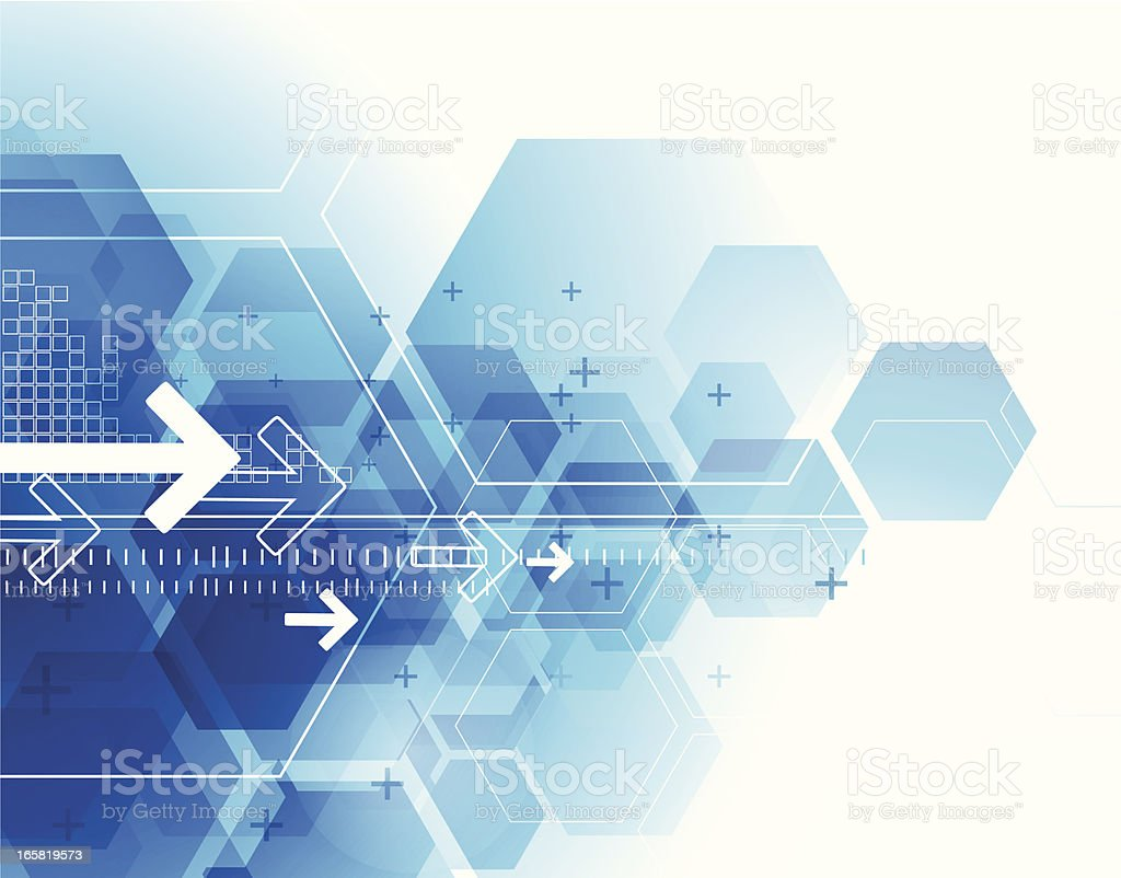 Abstract Blue Technical Background Stock Illustration