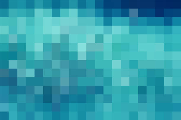 abstract blue technology check pattern background - checked pattern stock illustrations