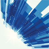 abstract blue transparency technology pattern background.(ai eps10 with transparency effect)