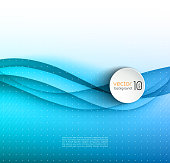 Abstract blue transparent wave background