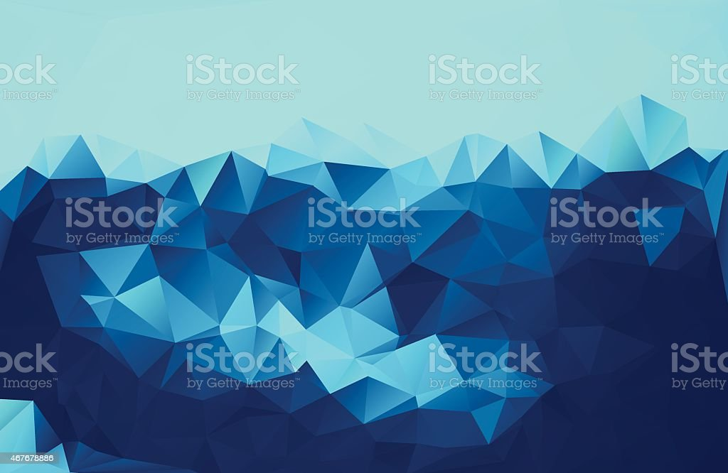 Abstract Blue Triangle Background vector art illustration