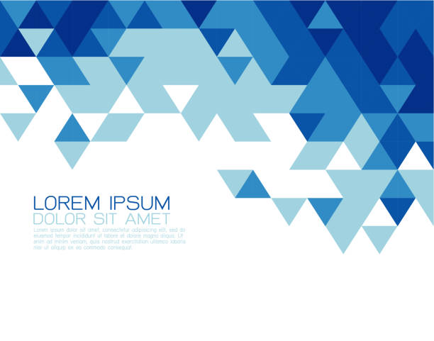 Abstract blue triangle modern template for media presentation vector art illustration