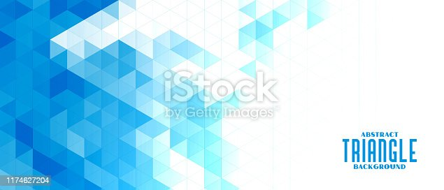 istock abstract blue triangle mosaic grid background design 1174627204