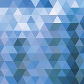 abstract blue triangle pattern background for design.(ai eps10 with transparency effect)