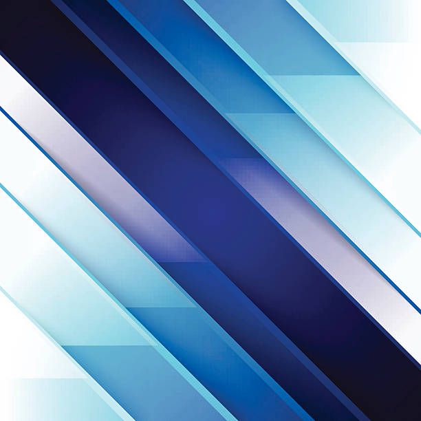 Abstract blue triangle shapes background vector art illustration