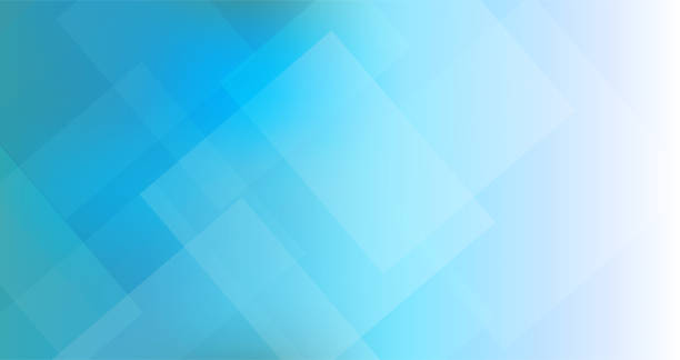abstract blue triangles geometric background - абстрактный задний план stock illustrations