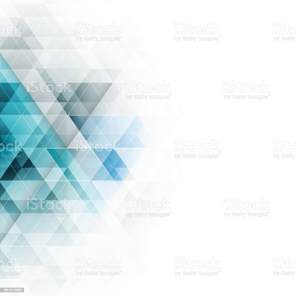 Abstract blue triangles geometric background. Vector illustration. - ilustração de arte vetorial