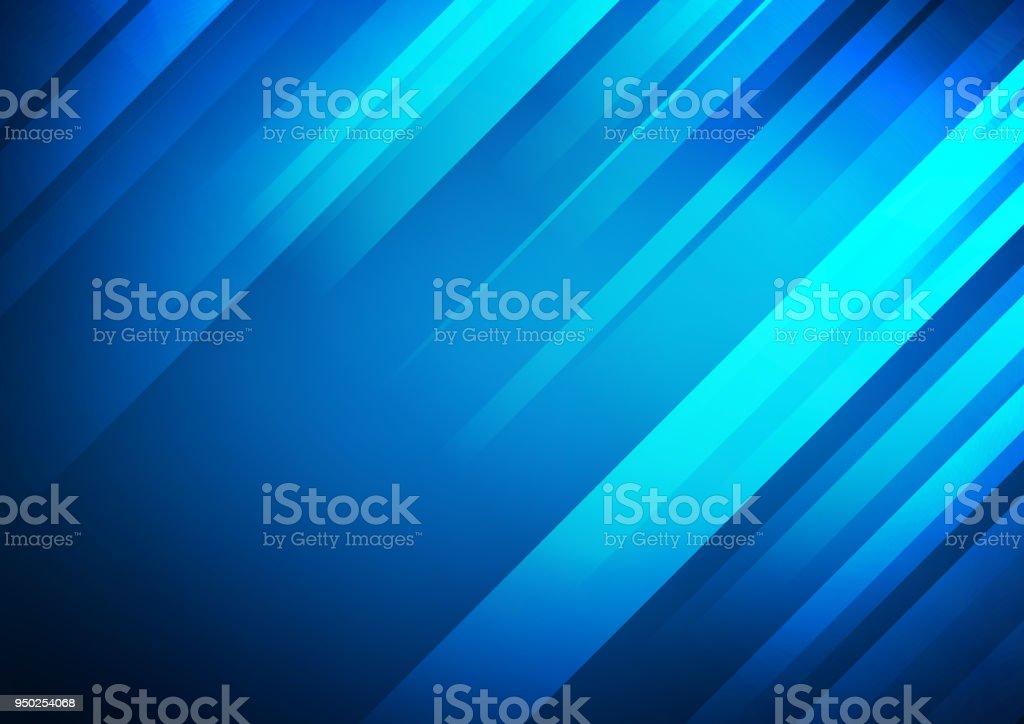 Fundo de vetor abstrato azul com listras - ilustração de arte em vetor