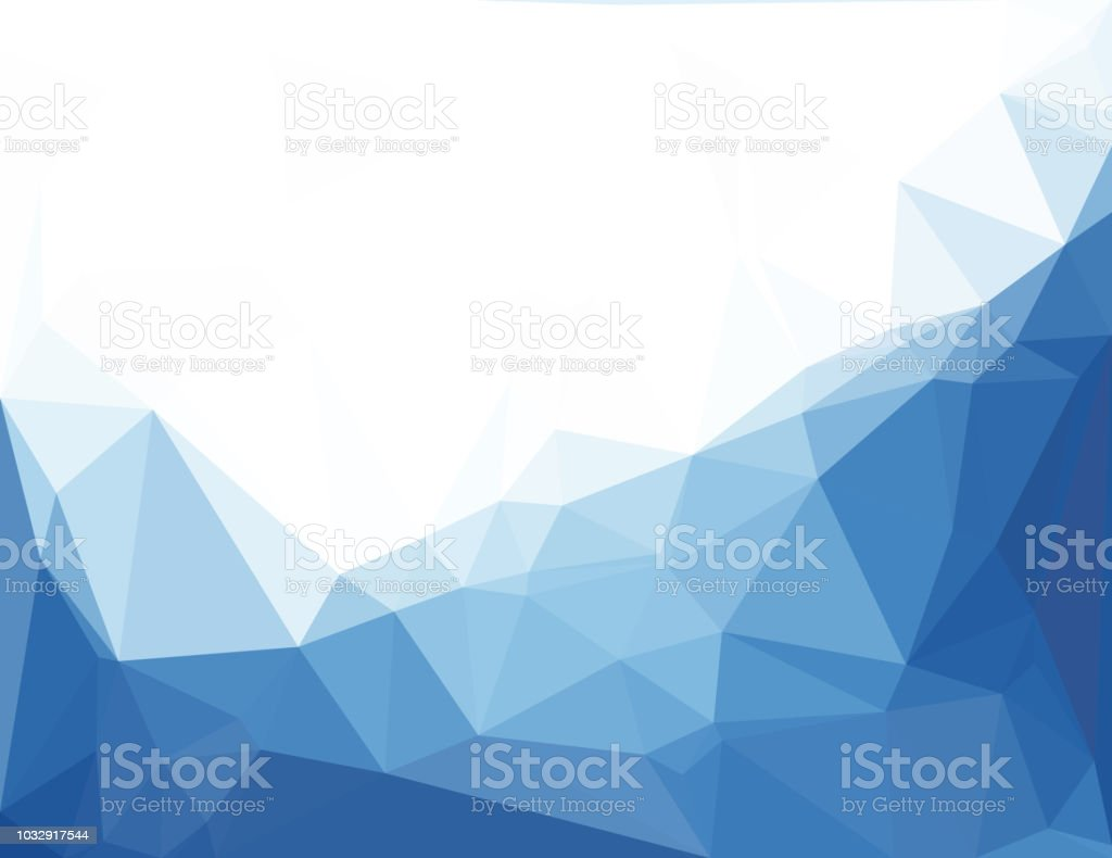 Abstract Blue Vector Background With Triangles Stock Illustration -  Download Image Now