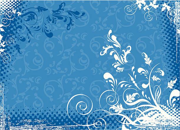 Abstract Blue vector art illustration