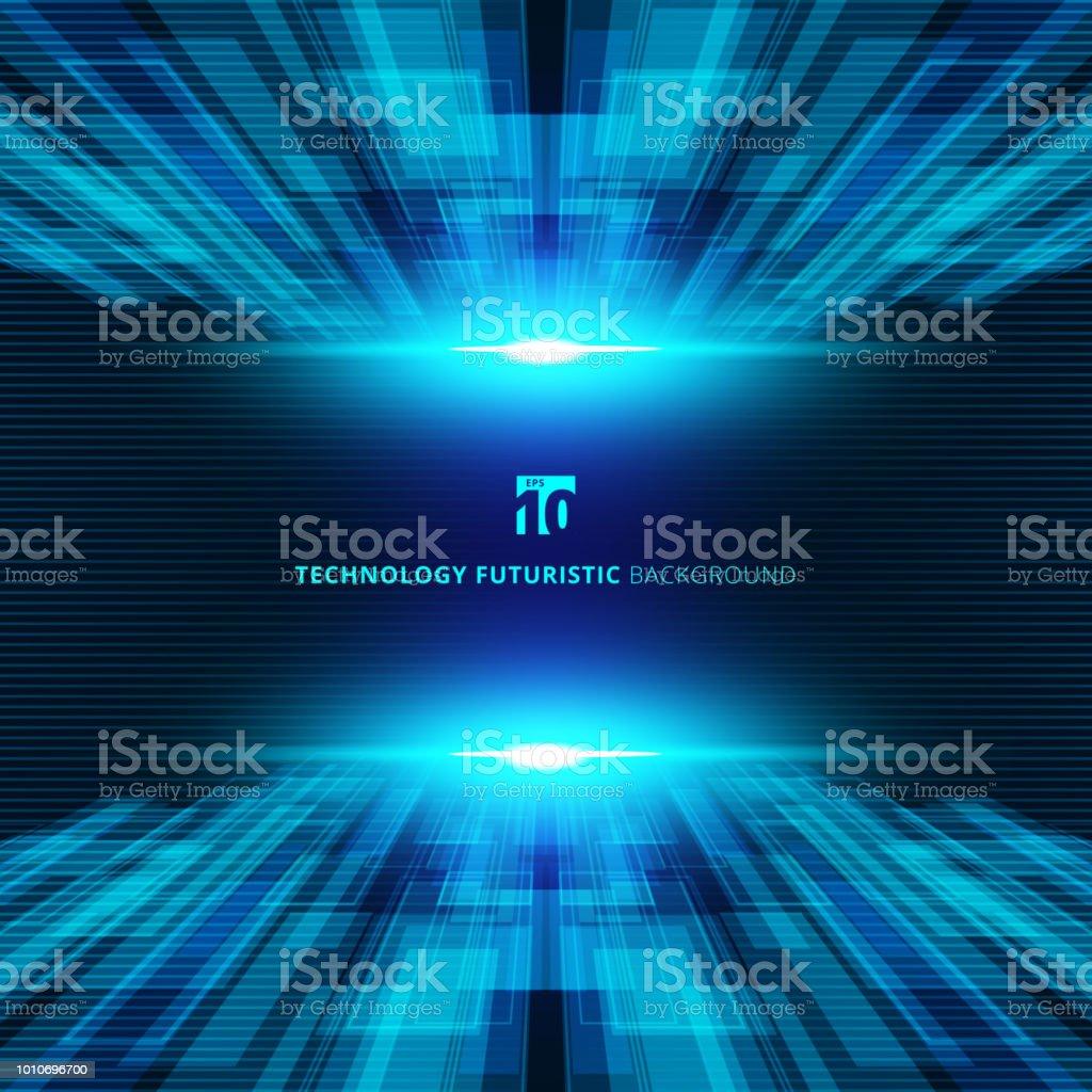 青い抽象仮想化技術概念未来デジタルの観点背景テキストのスペース。 ベクターアートイラスト