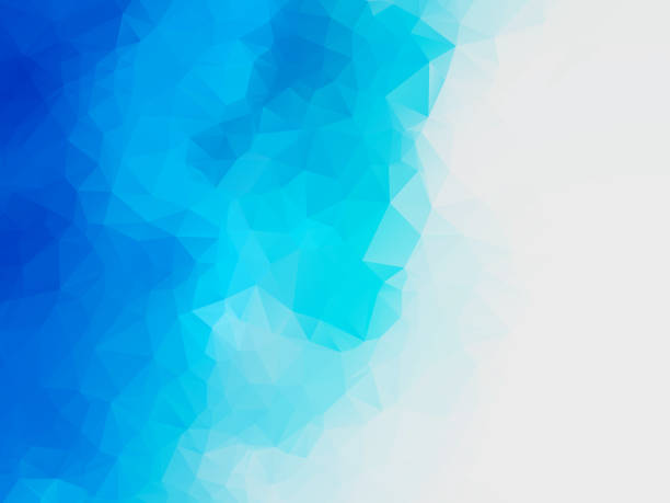 abstract blue water polygonal vector background vector art illustration
