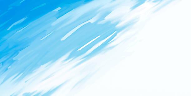 Abstrakter blauer Aquarellpinsel auf weißer Hintergrundvektorillustration – Vektorgrafik
