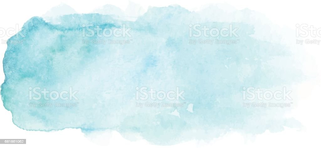 Abstract blue watercolor stain vector art illustration