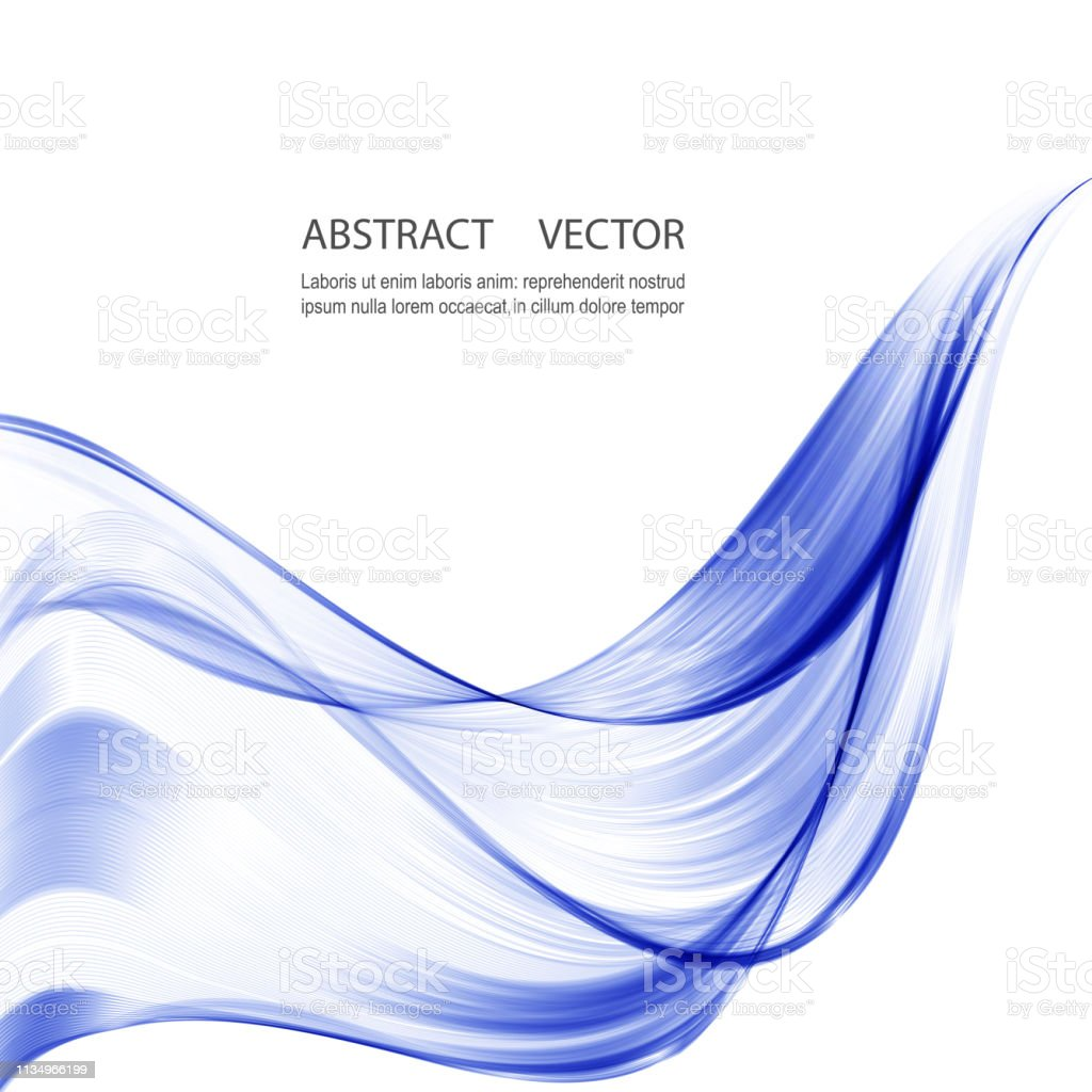 Abstract Blue Wave Vector Background For Brochure Website
