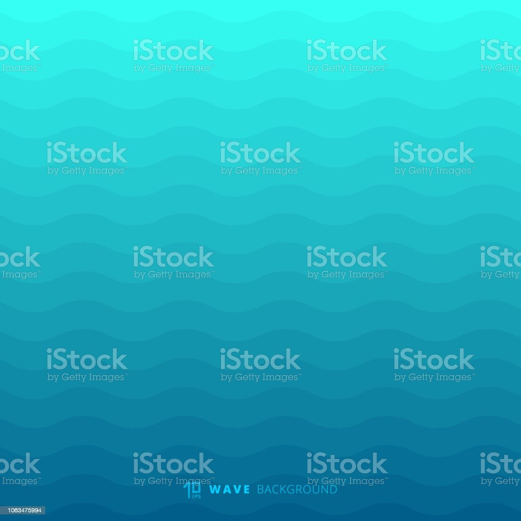 Abstract blue waves lines underwater background and texture royalty-free abstract blue waves lines underwater background and texture stock illustration - download image now