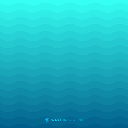 Abstract blue waves lines underwater background and texture clipart