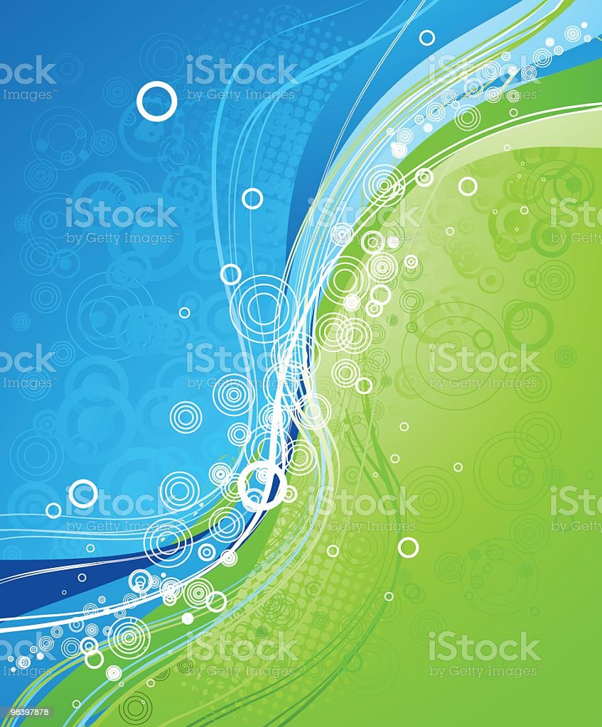 Abstract blue/green background royalty-free abstract bluegreen background stock vector art & more images of abstract