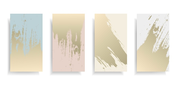 Abstract blue,pink,ivory background with gold grunge patina fashion elegance poster,banner for new collection,special offer,wedding invitation card,advertising promotion flyer.Vector illustration
