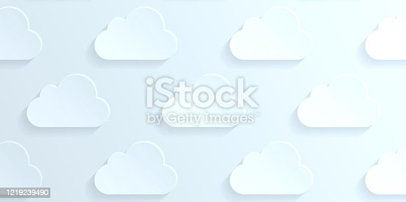 876037346 istock photo Abstract bluish white background - Cloud pattern 1219239490
