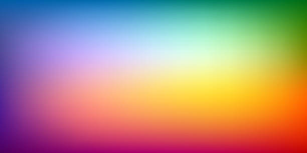abstrakcyjne rozmycie tła, gradient siatki tęczy, moc koloru, wzór do prezentacji, tapeta projektu wektorowego - kolory stock illustrations
