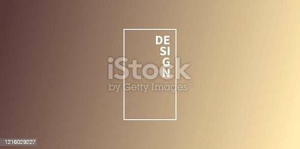 Modern and trendy abstract background with a defocused and blurred gradient, can be used for your design, with space for your text (colors used: Yellow, Orange, Beige, Brown). Vector Illustration (EPS10, well layered and grouped), wide format (2:1). Easy to edit, manipulate, resize or colorize.