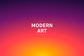 Modern and trendy abstract background with a defocused and blurred gradient, can be used for your design, with space for your text (colors used: Yellow, Orange, Red, Pink, Purple, Black). Vector Illustration (EPS10, well layered and grouped), wide format (3:2). Easy to edit, manipulate, resize or colorize.