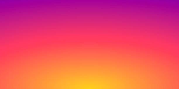 abstrakcyjne rozmyte tło - rozmyty gradient pomarańczowy - zachód słońca stock illustrations