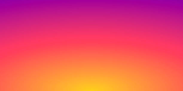 Abstract blurred background - defocused Orange gradient Modern and trendy abstract background with a defocused and blurred gradient, can be used for your design, with space for your text (colors used: Yellow, Orange, Red, Pink, Purple). Vector Illustration (EPS10, well layered and grouped), wide format (2:1). Easy to edit, manipulate, resize or colorize. sunset stock illustrations