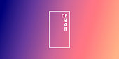Modern and trendy abstract background with a defocused and blurred gradient, can be used for your design, with space for your text (colors used: Beige, Orange, Pink, Purple, Blue). Vector Illustration (EPS10, well layered and grouped), wide format (2:1). Easy to edit, manipulate, resize or colorize.
