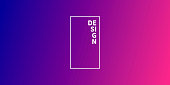 Modern and trendy abstract background with a defocused and blurred gradient, can be used for your design, with space for your text (colors used: Pink, Purple, Blue). Vector Illustration (EPS10, well layered and grouped), wide format (2:1). Easy to edit, manipulate, resize or colorize.