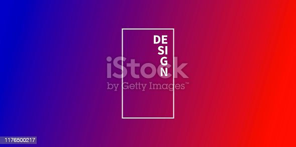Modern and trendy abstract background with a defocused and blurred gradient, can be used for your design, with space for your text (colors used: Red, Pink, Purple, Blue). Vector Illustration (EPS10, well layered and grouped), wide format (2:1). Easy to edit, manipulate, resize or colorize.