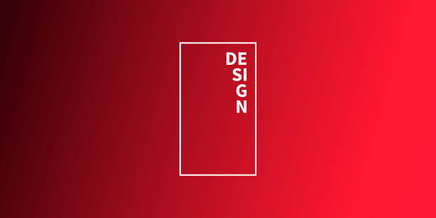 Abstract blurred background - defocused Red gradient vector art illustration