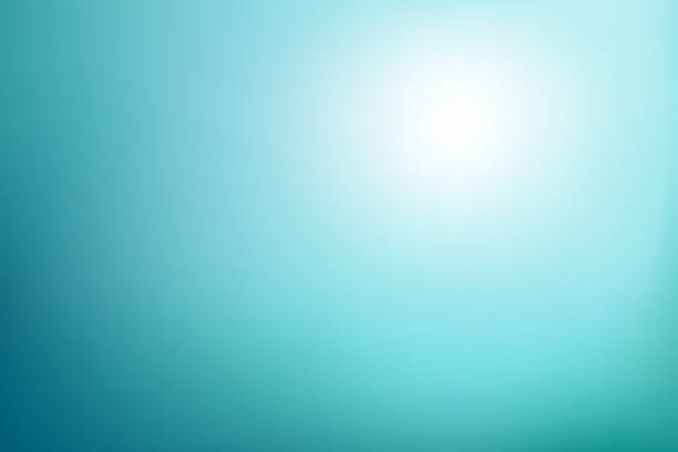 Abstract blurred background in blue turquoise tones Underwater sunlight colors. Vector illustration turquoise colored stock illustrations