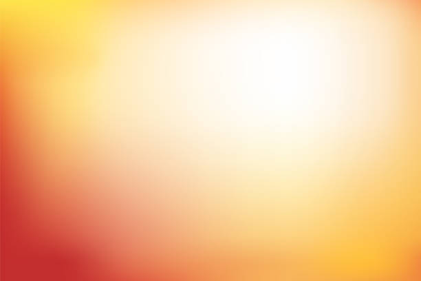 abstract blurred background in red, orange and yellow tone - autumn stock illustrations
