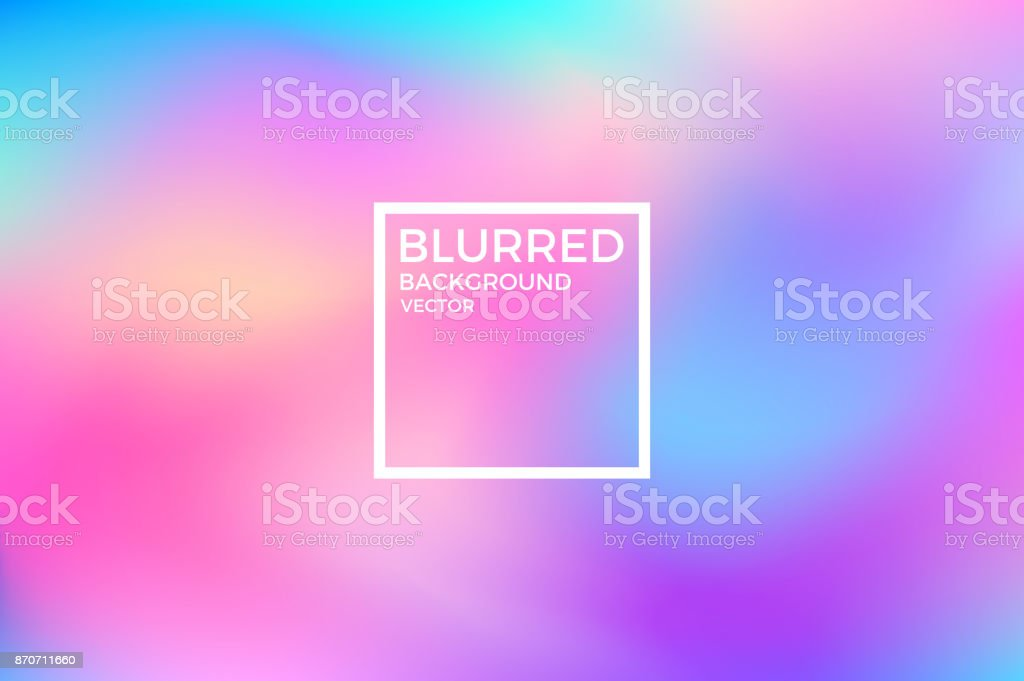 Abstract blurred background. Vivid color vector art illustration