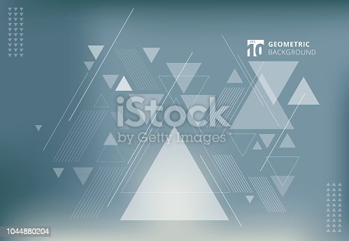 Abstract blurred background with geometric triangles composition.