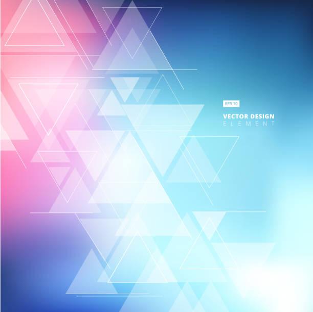 stockillustraties, clipart, cartoons en iconen met abstracte onscherpe achtergrond met driehoeken patroon element. voor de cover boek, afdrukken, advertentie, brochure, flyer, affiche, magazine, cd cover ontwerp, t-shirt, vector - triangel