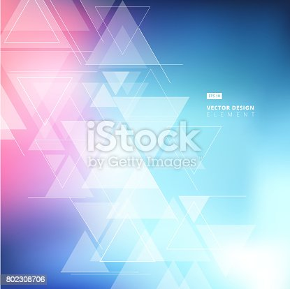 Abstract Blurred Background With Triangles Pattern Element