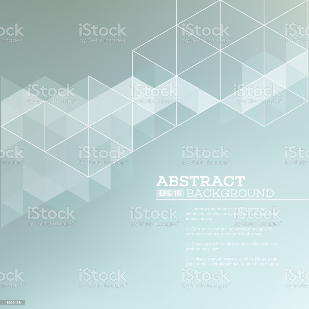 Abstract blurred background with   triangles.  Vector illustration vector art illustration