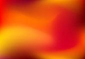 Abstract blur gradient horizontal background with trend red, orange, yellow and maroon colors for deign concepts, wallpapers, web, presentations and prints. Vector illustration.