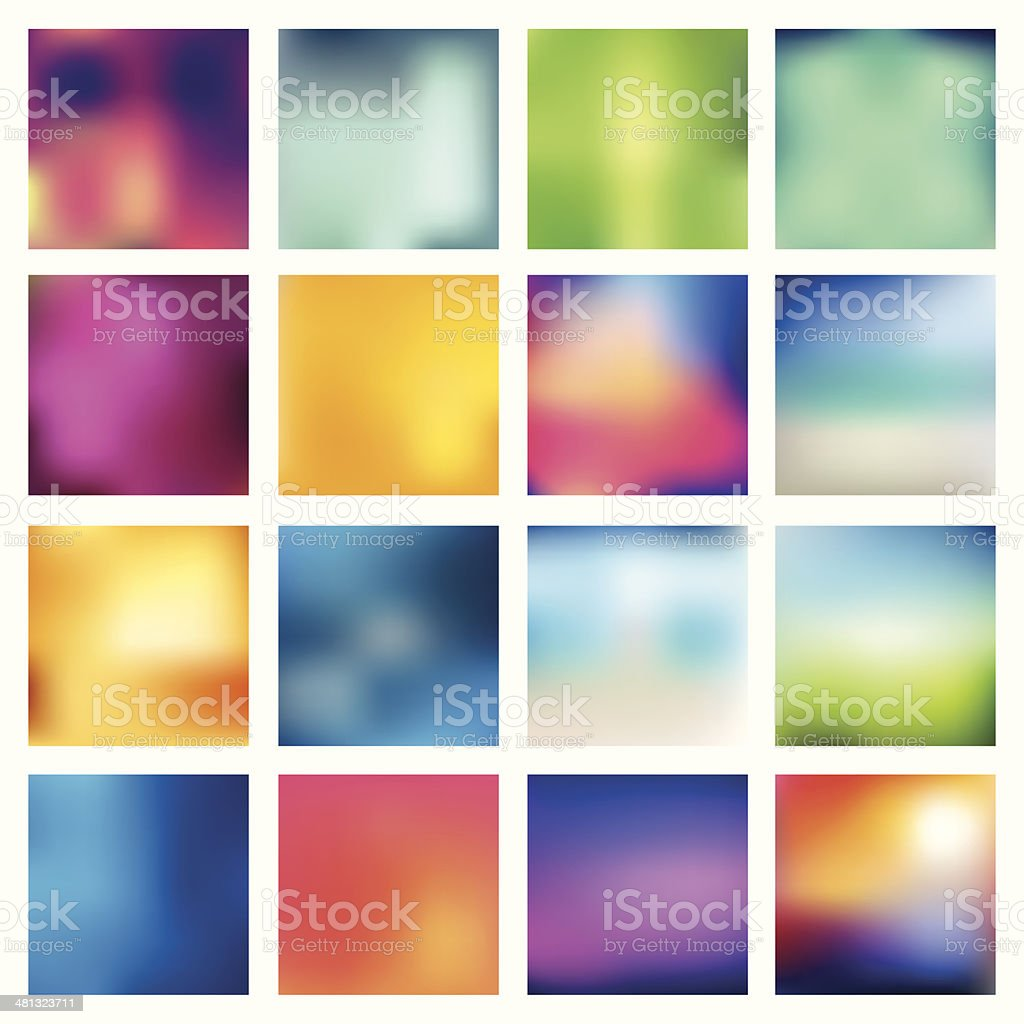 Abstract blurred (blur) backgrounds. vector art illustration