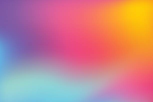 abstract blurred colorful background - насыщенный цвет stock illustrations