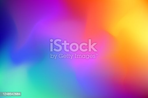 istock Abstract blurred colorful background 1248542684