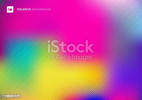 Abstract blurred colorful beautiful background with diagonal lines texture. Vector illustration