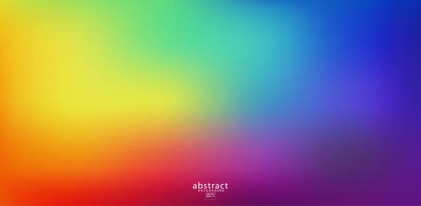 ilustrações, clipart, desenhos animados e ícones de resumo desfocada fundo de malha gradiente cores brilhantes do arco-íris. modelo macio liso colorido da bandeira. ilustração vibrante creativa do vetor - arco íris