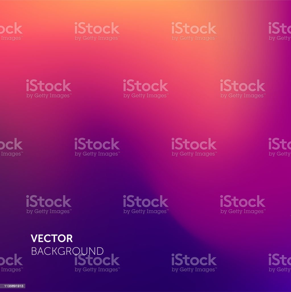 Abstract blurred gradient mesh color background. Smooth soft vector color blend gradient trendy purple background - Royalty-free 2019 arte vetorial