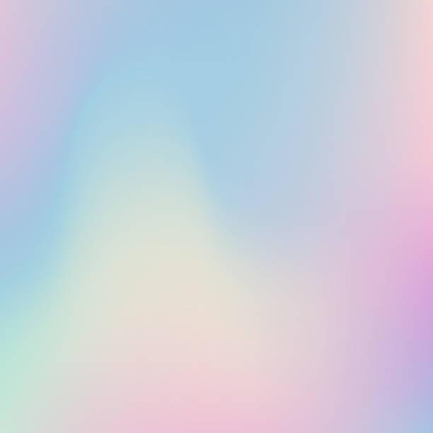 abstrakcyjne rozmyte holograficzne tło gradientu. nowoczesny minimalistyczny design. - pastelowy kolor stock illustrations
