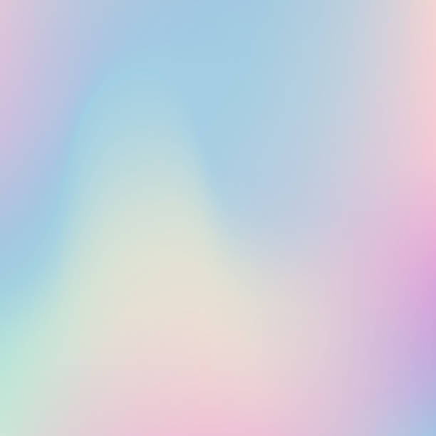 Abstract blurred Holographic gradient background.Modern minimal design. Abstract blurred Holographic gradient  background  Modern minimal design. Iridescent   backdrop for creative project pastel colored stock illustrations